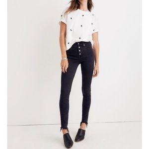 Madewell high-rise skinny jeans in Berkeley Black